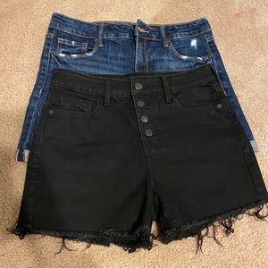 2 Pair of High Rise Jean Shorts - Size 6